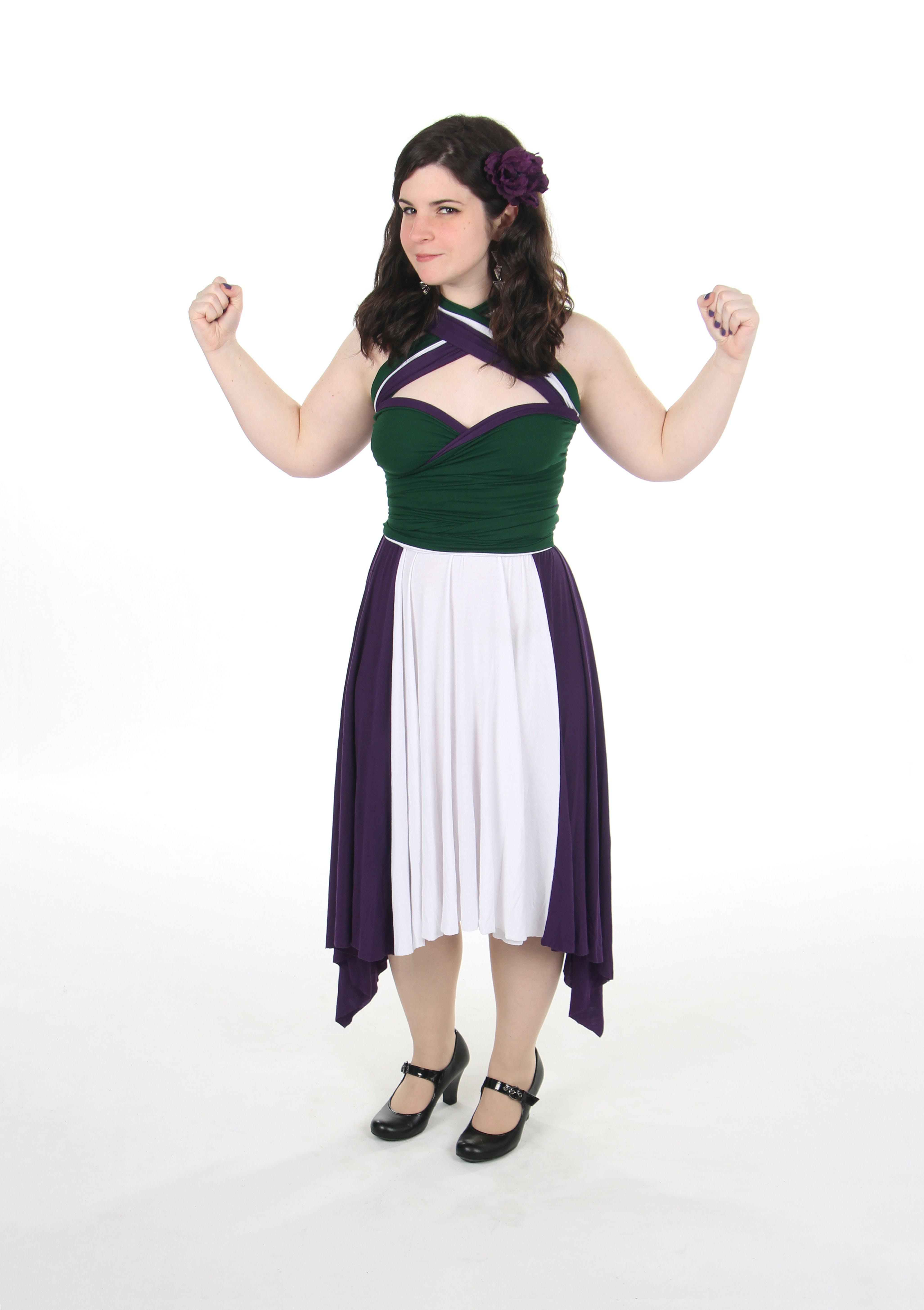 She-Hulk-inspired dress by Little Petal