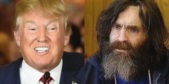 Donald Trump and Charles Manson