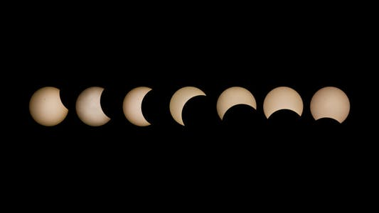 Time lapse of eclipse