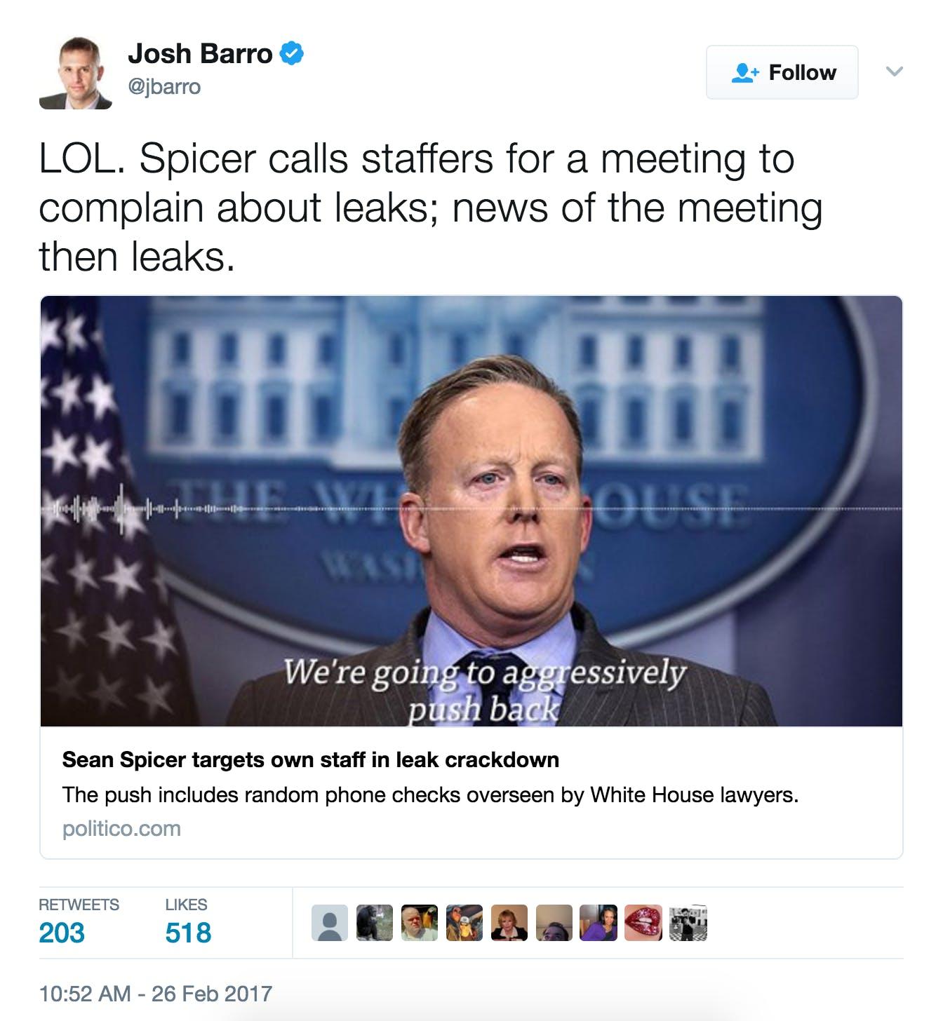 Sean Spicer leaks meme
