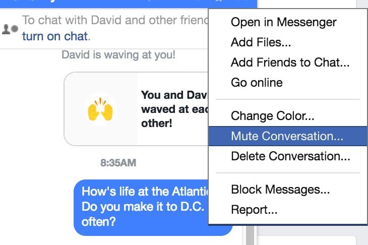 Facebook Messenger tricks: Mute notifications