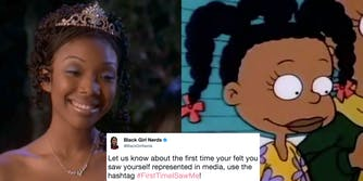Entries from women of color for the #FirstTimeISawMe represented in movies and TV
