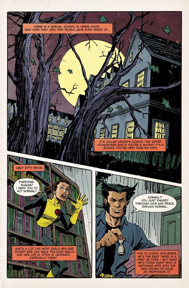 Fake X-Men comic in the movie Logan