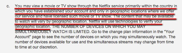 Netflix Terms of Use