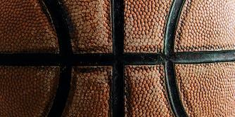 Close up old basketball