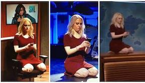 Kellyanne Conway kneeling SNL