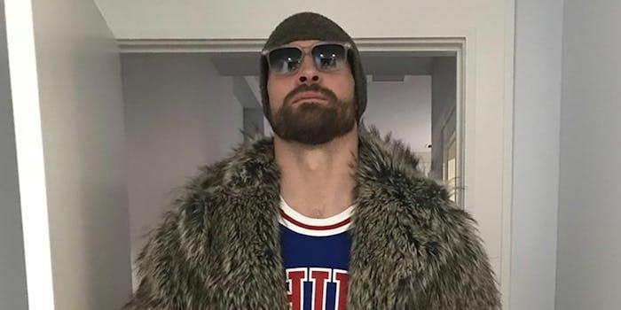 Chris Long in furs