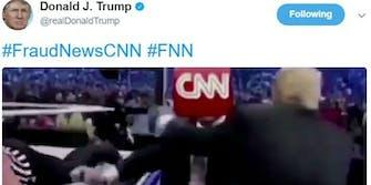 Donald Trump WWE attacking CNN