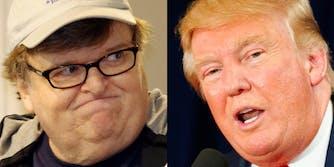 Michael Moore and Donald Trump