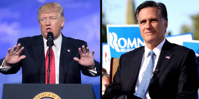 President Donald Trump is reportedly trying to persuade Sen. Orrin Hatch (R-Utah) to seek reelection in an effort to keep Mitt Romney out of Congress.