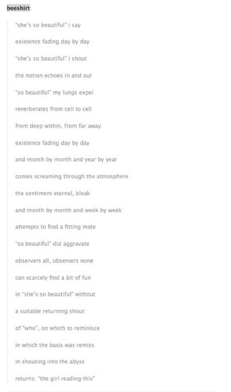 girl reading this poem meme