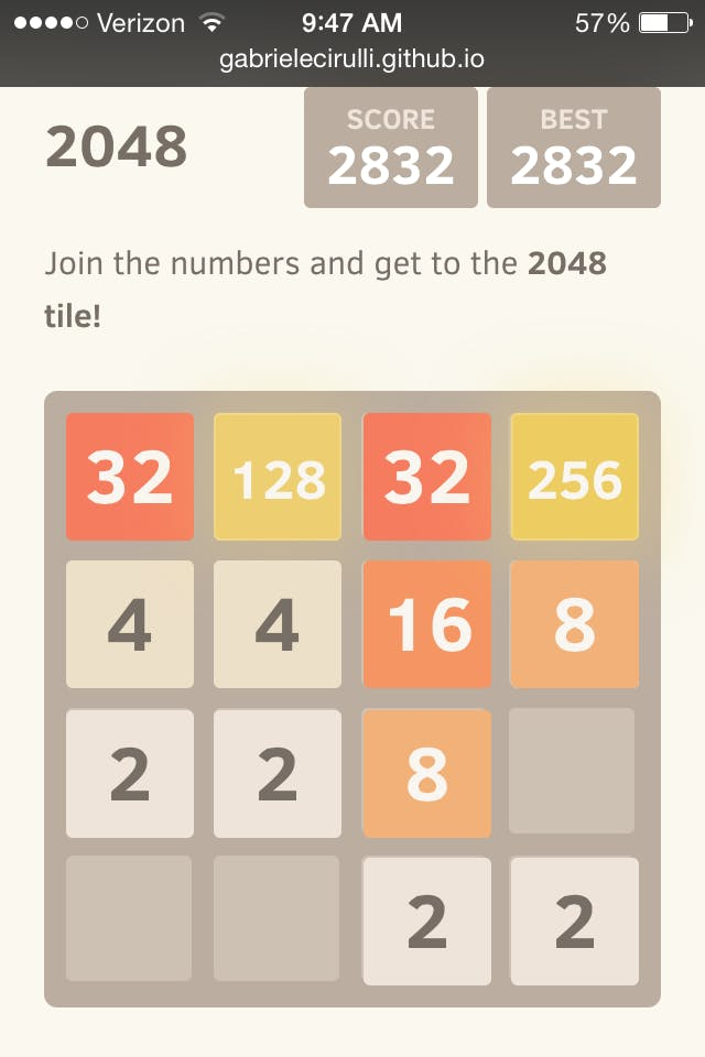 best way to beat 2048