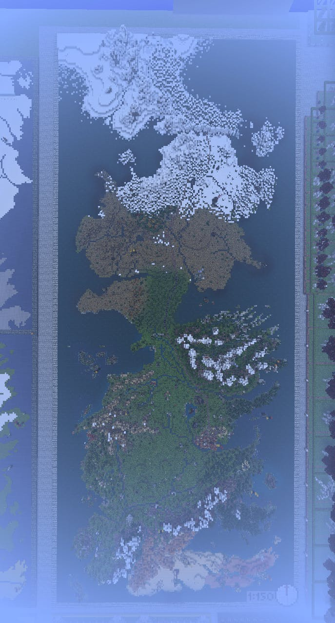 WesterosCraft, overhead view.