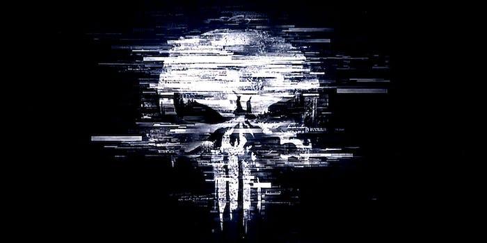 The Punisher skull logo