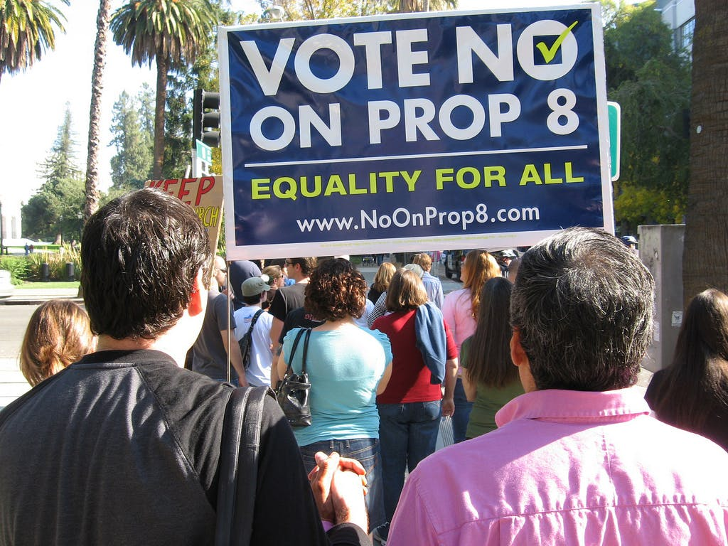 Prop 8 protest California marriage equality