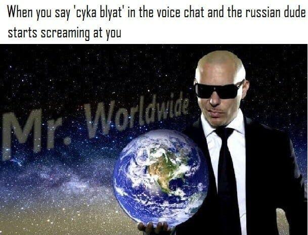 cyka blyat mr worldwide pitbull meme