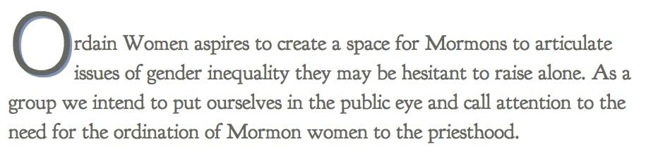 Ordain Women Mormon Website