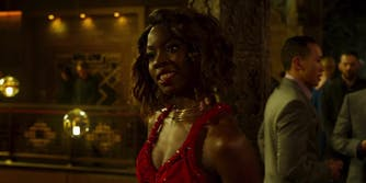 'Black Panther' wig scene