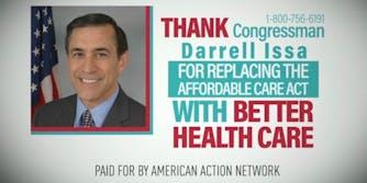 Ads thanking Republicans for AHCA NCAA tournament NBA