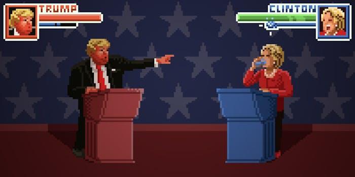 Trump/Clinton debate 8-bit