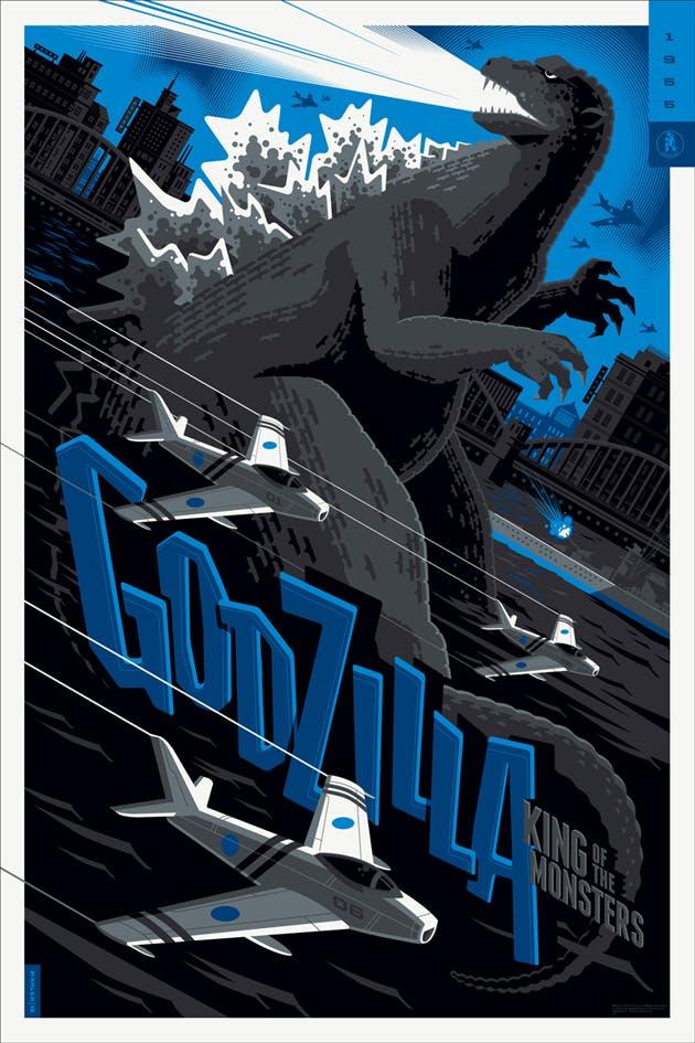 Godzilla (English variant), 24? x 36,? Edition of 125