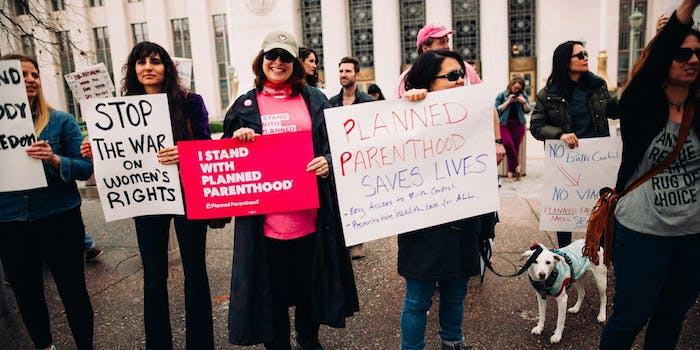 A rally for Planned Parenthood in Los Angeles.