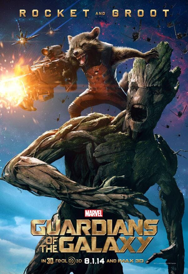 Rocket and Groot poster from Guardians of the Galaxy