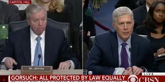 Sen. Lindsey Graham asks Supreme Court Justice nominee Neil Gorsuch a question during his confirmation hearing.