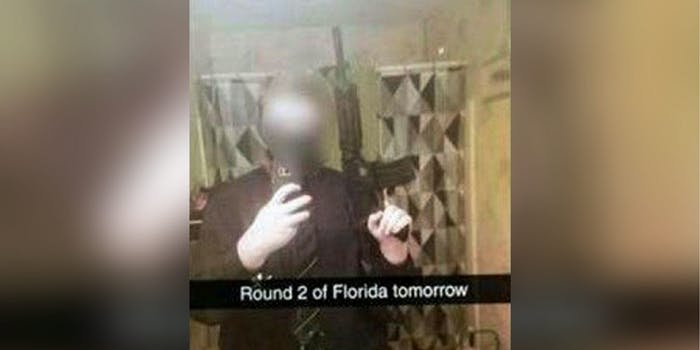 South Carolina student posts message with air soft rifle stating 'Florida Round 2' but said he's joking.
