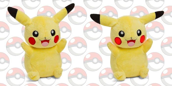 animated pikachu plush