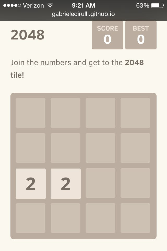 how to get 2048