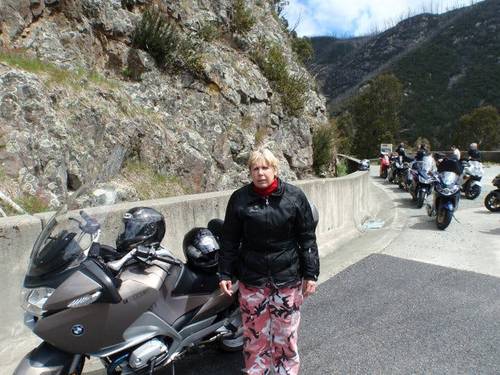"""""""2010 again. Riding on the back of dad's motorbike was one of her favourite things to do. She got quite terrified when the helmets were on, but once moving had a blast. This had to stop in 2011, when an on-bike paranoia attack nearly caused an accident."""""""