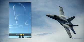 The Navy told a local news outlet that one of their planes was responsible for creating a skydrawing in the shape of penis in Washington.