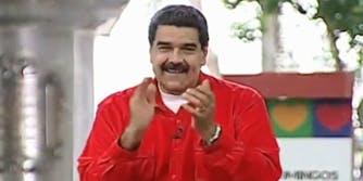 "Venezuelan President Nicolas Maduro claps along to ""Despacito"""