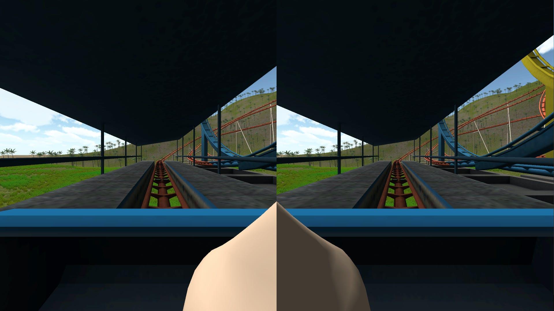VR simulation w/virtual nose