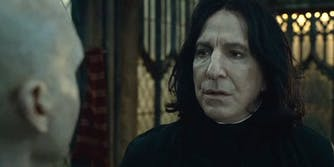 Snape speaking to Voldemort