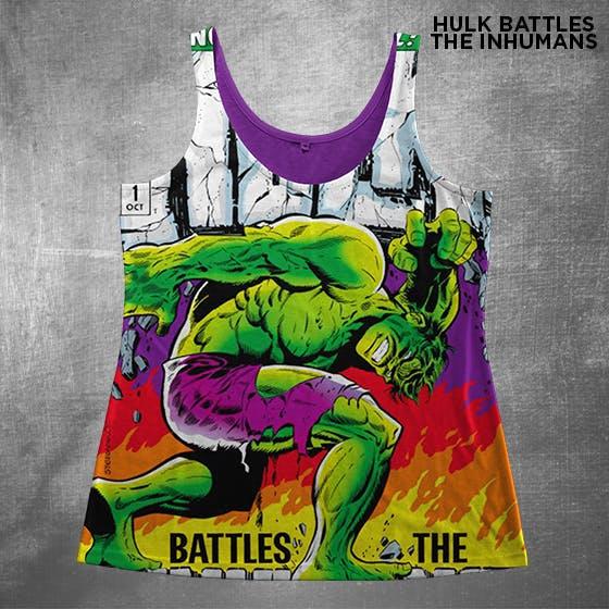 Geek fashion tank top Hulk