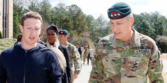 mark zuckerberg facebook ceo military general