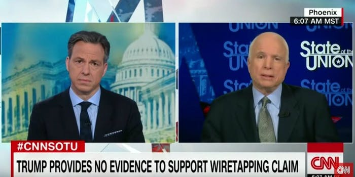 John McCain Trump wiretapping allegations State of the Union