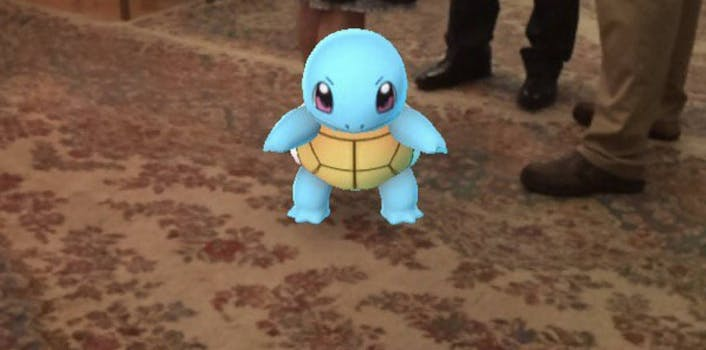 pokemon go squirtle at funeral