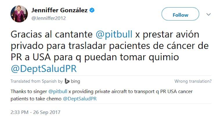 Pitbull Jenniffer Gonzalez