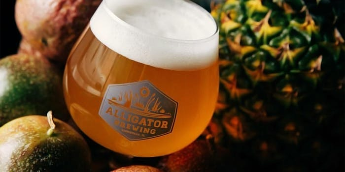 Alligator Brewing Co. Juicy AF Florida Weisse. It is offering free beer in exchange for tickets to Richard Spencer's speech at the University of Florida.
