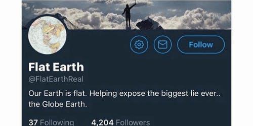flat earth twitter