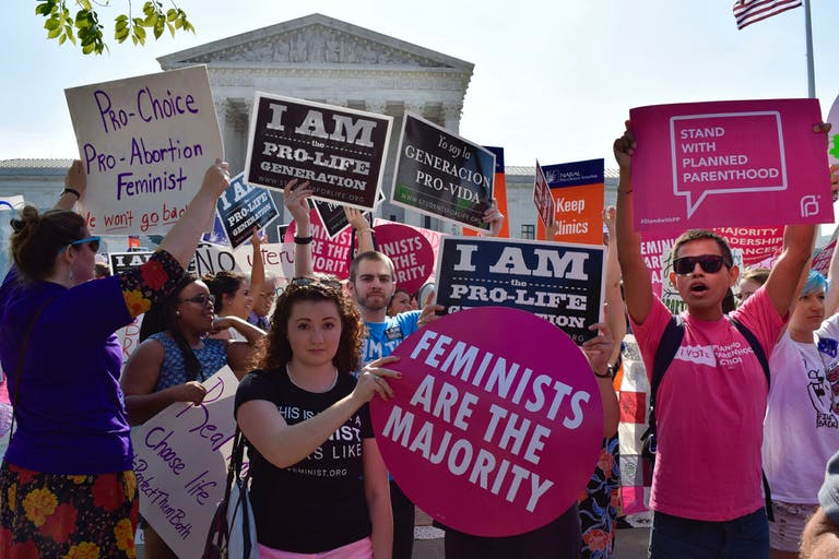 how much does a abortion cost: photo of pro-choice rally