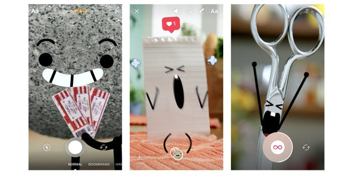 Instagram Direct screen grabs