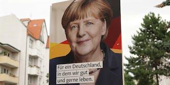 Angela Merkel billboard for Germany's Federal election