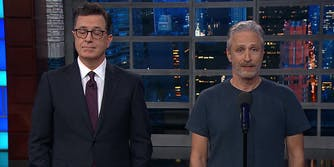 Stephen Colbert and John Stewart