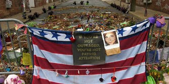 A memorial for Heather Heyer, victim of the white supremacist Charlottesville rally