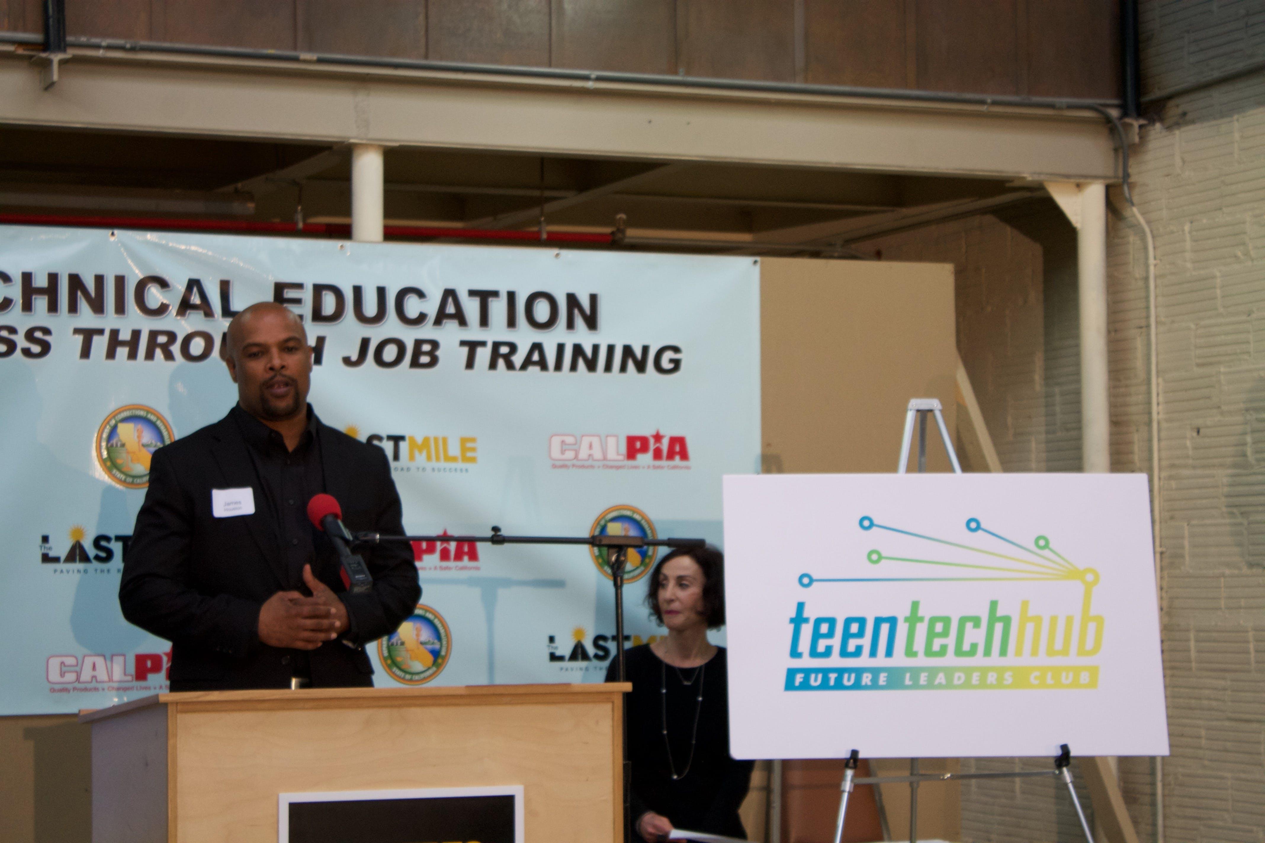 James Houston pitched Teen Tech Hub.