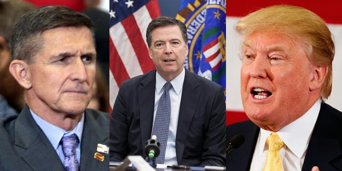 Mike Flynn, James Comey, and Donald Trump